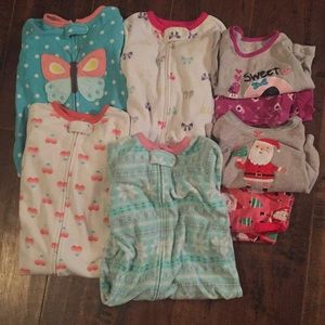 Lot of 12 month pjs